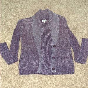 Purple woven cardigan